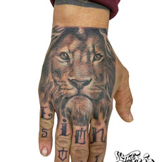 tattoo manos lion soul lion