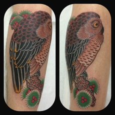 JAPANESE TATTOO OWL COVER UP
