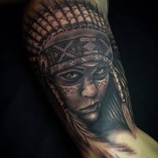 Native women tattoo