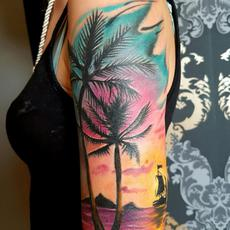 Yaiza rubio castillejos. Palm tree tattoo. Palm...