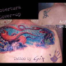 Cover-up con fondo marino