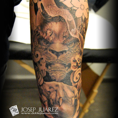 dog foo, detail, Josep Juarez, Doble J Tattoo
