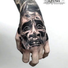 Noah Mask Tattoo