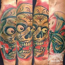 SKULL MEXICAN TATTOO