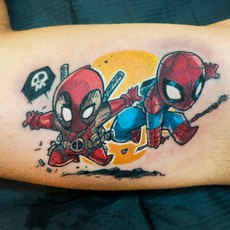 Dead pool and Spiderman