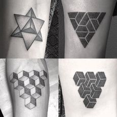 triangle dotwork