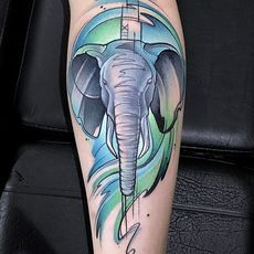 Watercolor Elephant.