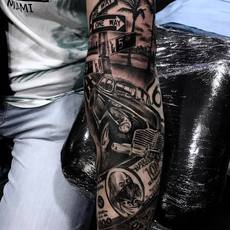 yaiza rubio, tattoo full sleeve
