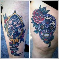 Healed tattoos. Tatuajes curados.