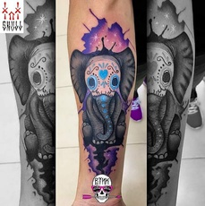 Elephant the day of the dead