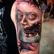 Yaiza rubio , tattoo horror