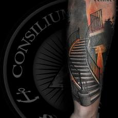 tattoo escaleras richart moreno consilium tatto...