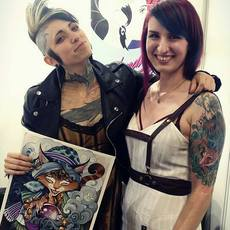 Con Teresa Sharpe en la Barcelona Tattoo Expo 2017