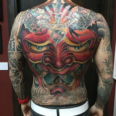 Hannya Mask Backpiece Filler in Color