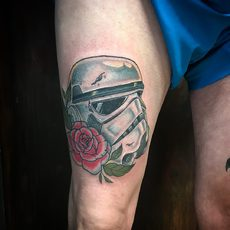 Star Wars Storm Trooper Helmet with Rose in Color