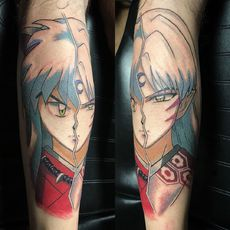 Inuyasha and Seshomaru Tattoo in Color