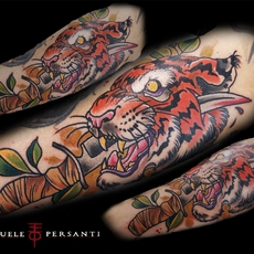 Tigre neotraditional tattoo