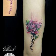 Tattoo Rose watercolor, by Richard Tiki