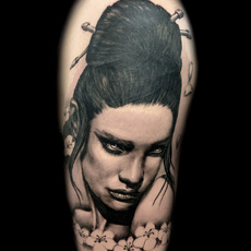 FALKE TATTOO, GEISHA PORTRAIT