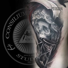 TATTOO TATOO TATTO TATUAJE CALAVERA RELOJ DE AR...