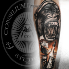 TATTOO TATUAJE DE PIRATAS EN CONSILIUM TATTOO H...