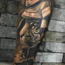 Franky Lozano Tattoo - Samurai Animal