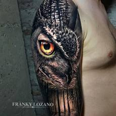 Buho realista, Night Owl wood - Franky Lozano T...