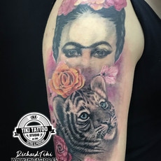 Tattoo Frida Kahlo | Tattoo Tiger Baby