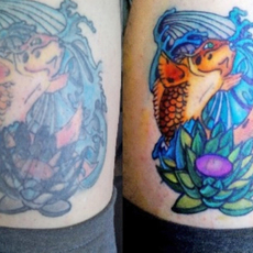 Cover up tattoo color