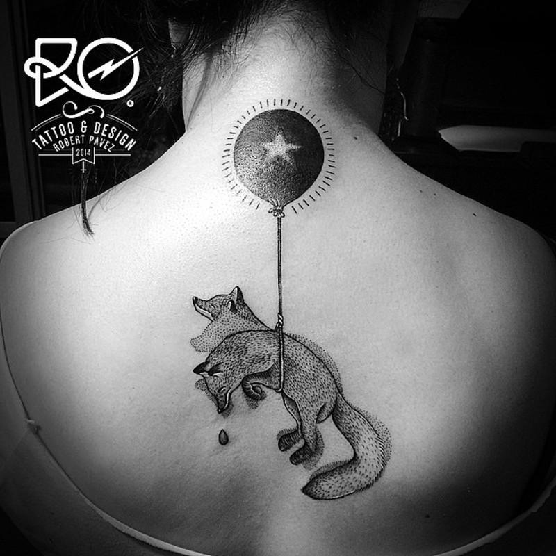 Flying fox tattoo