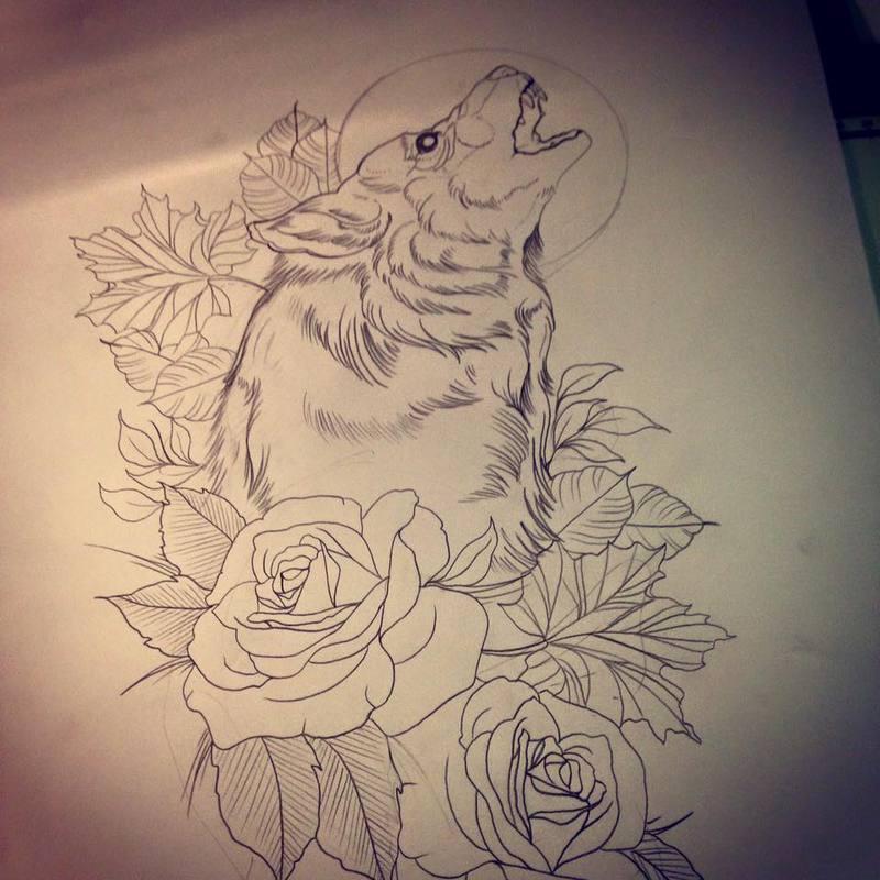 Sketch Lobo neotradicional