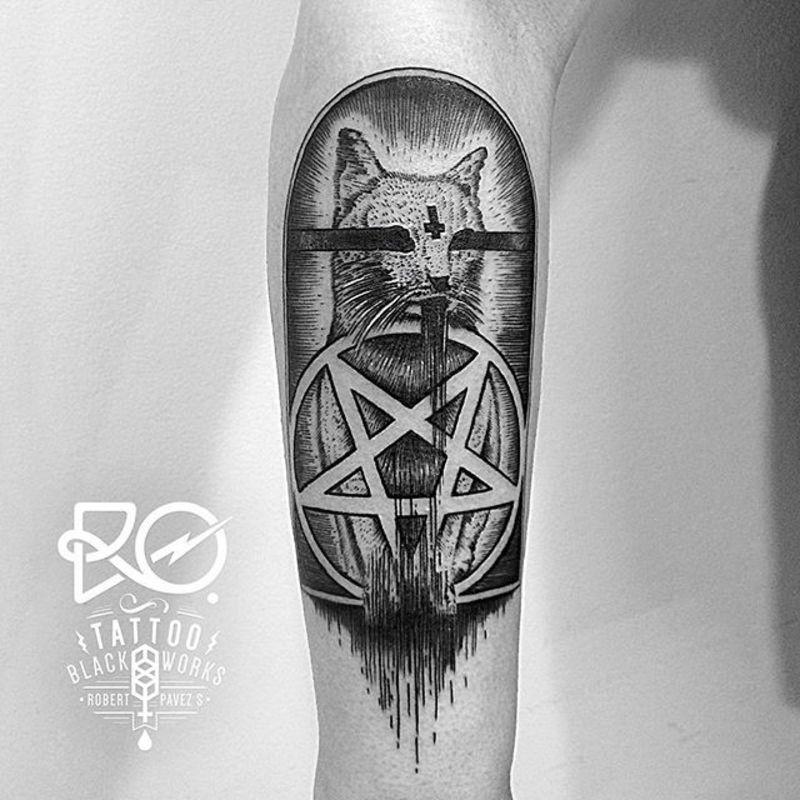Black Cat Pentagram