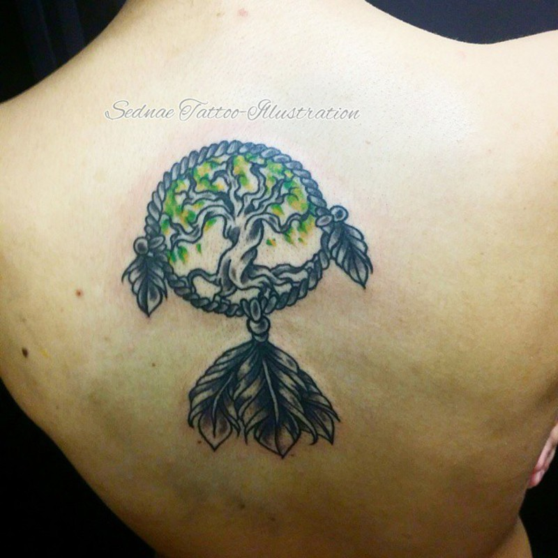 Yggdrasil Shoulder Tattoo