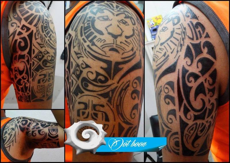 Brazalete Tribal Maori Leon - Maori-tattoo-brazalete