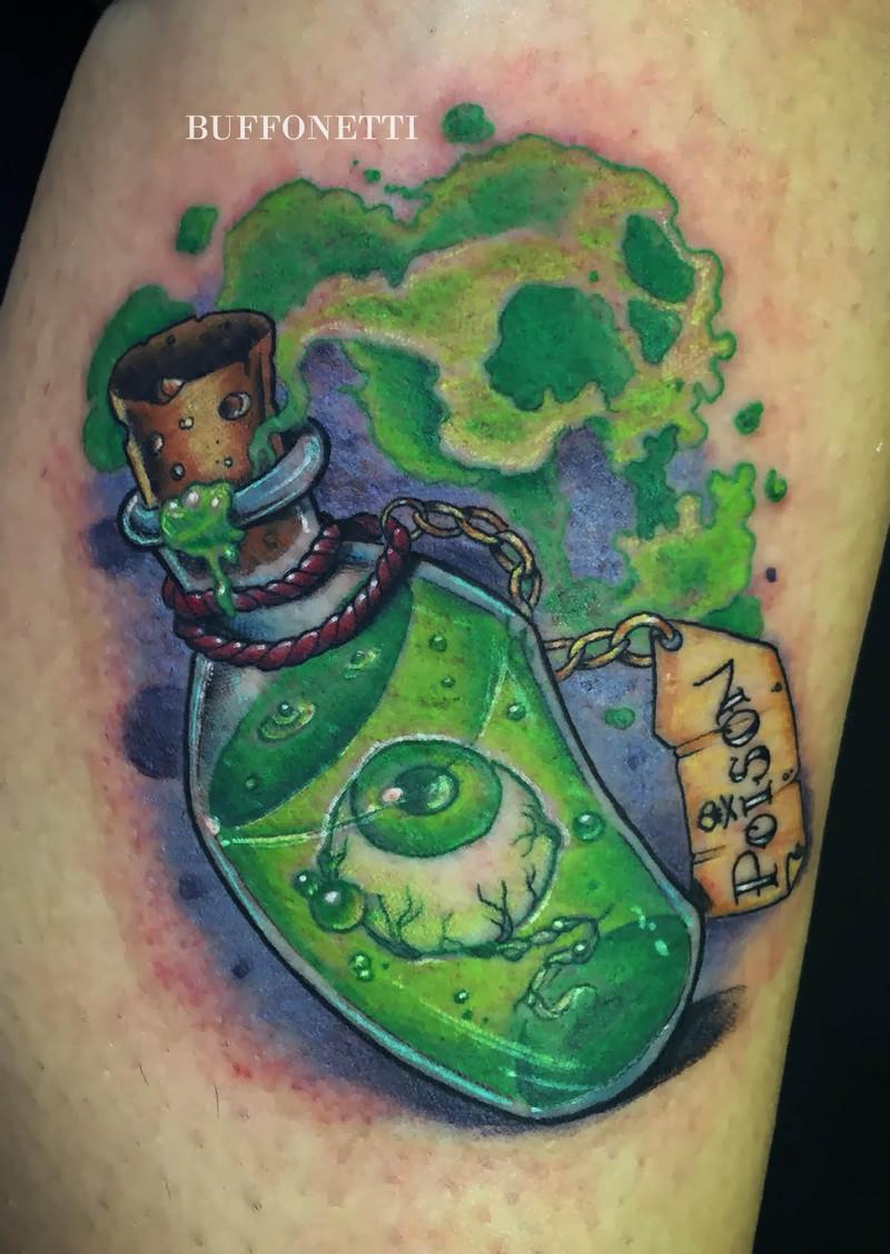 Botella Tatuaje botella maldita