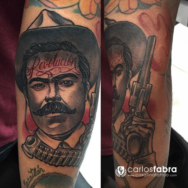 18 emiliano zapata tattoos ink and internet for Pancho villa tattoo