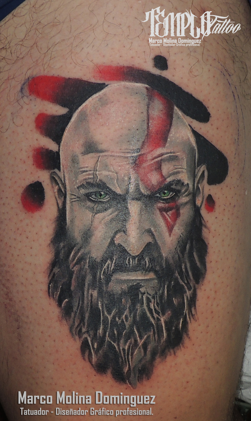 The old kratos for Kratos tattoo design