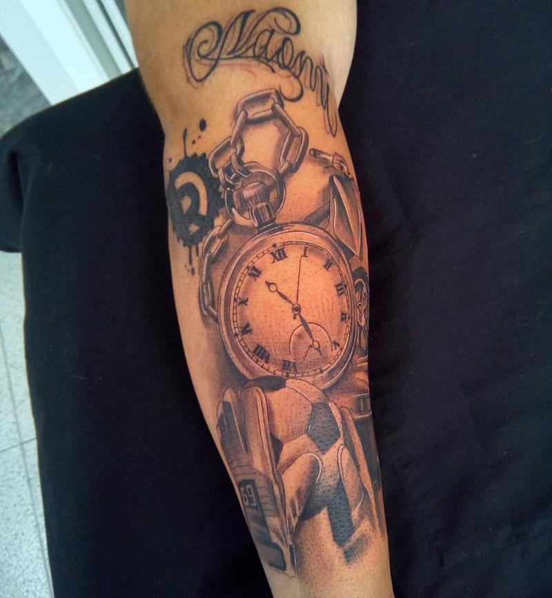Tatuaje Brazo De Recuerdos - Brazo-tatuaje