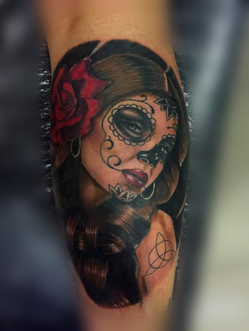 Catrina Full Color By Gtm Tattoo