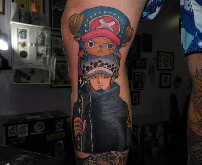 Trafalgar d law and tony tony chopper for Trafalgar law tattoos
