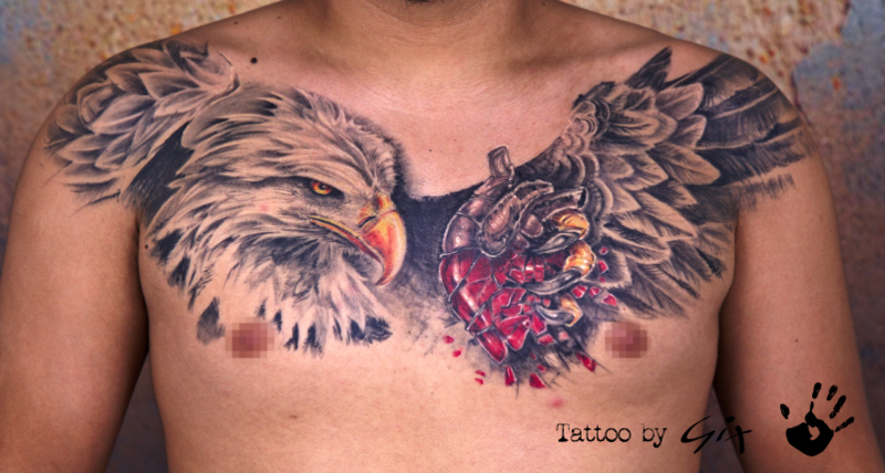 Tattoo by Giuliano Montisci