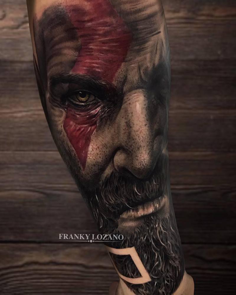 kratos god of war ps4 franky lozano tattoo valencia. Black Bedroom Furniture Sets. Home Design Ideas